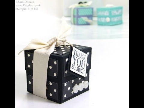 Lidded Cube Box Tutorial by Stampin' Up! UK Independent Demonstrator Pootles - YouTube