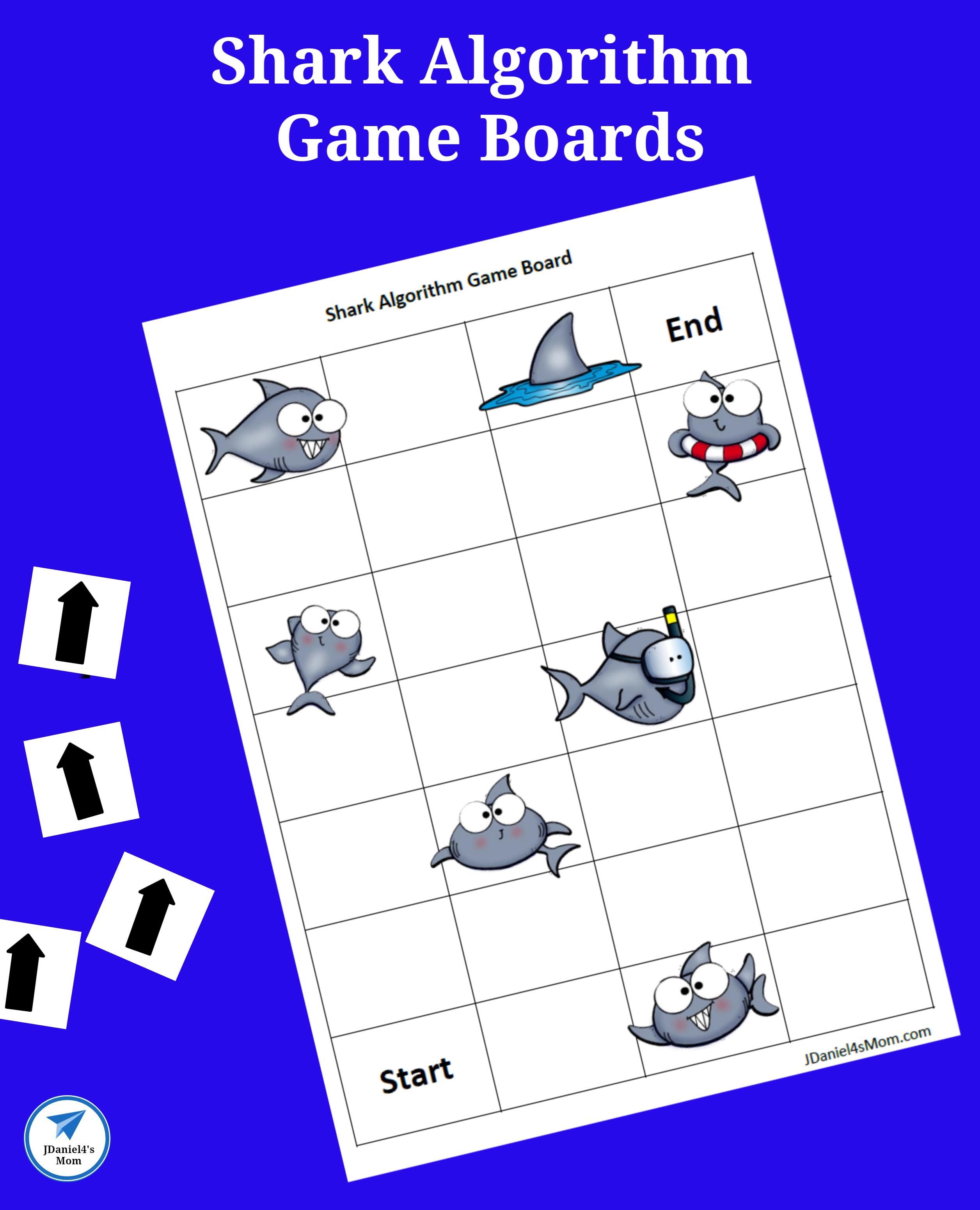 Offline Coding Academy Printable Shark Algorithm Game Boards Jdaniel4s Mom Coding Academy Coding For Kids Craft Activities For Kids [ 3100 x 2512 Pixel ]