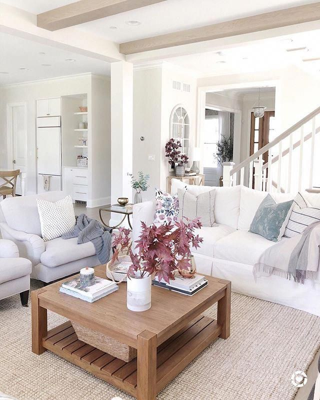 Fall Decor Inspo, Open Living Room Features White