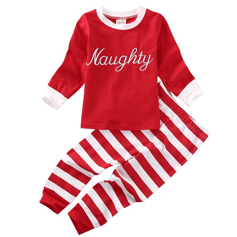 db80b1f86f XMAS Newborn Toddler Baby Girl Clothing Set Letter Print T-shirt Top+Striped  Pants Cotton Cute 2pcs Baby Clothes Halloween Gift  Affiliate