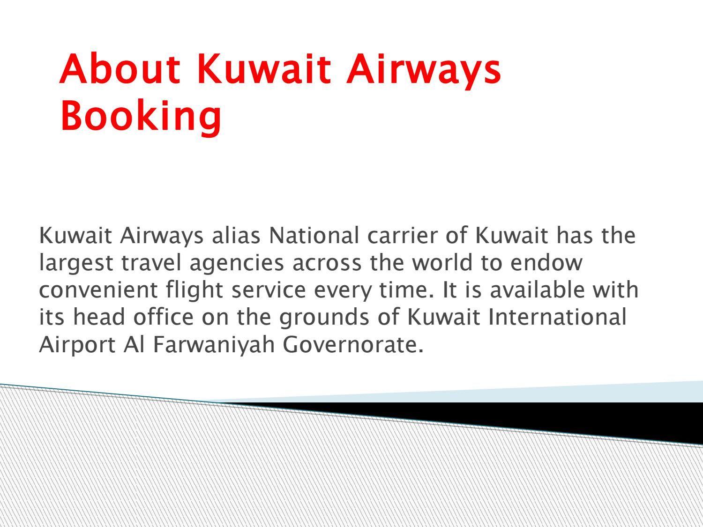Kuwait Airways Booking Travel agency, Airline booking