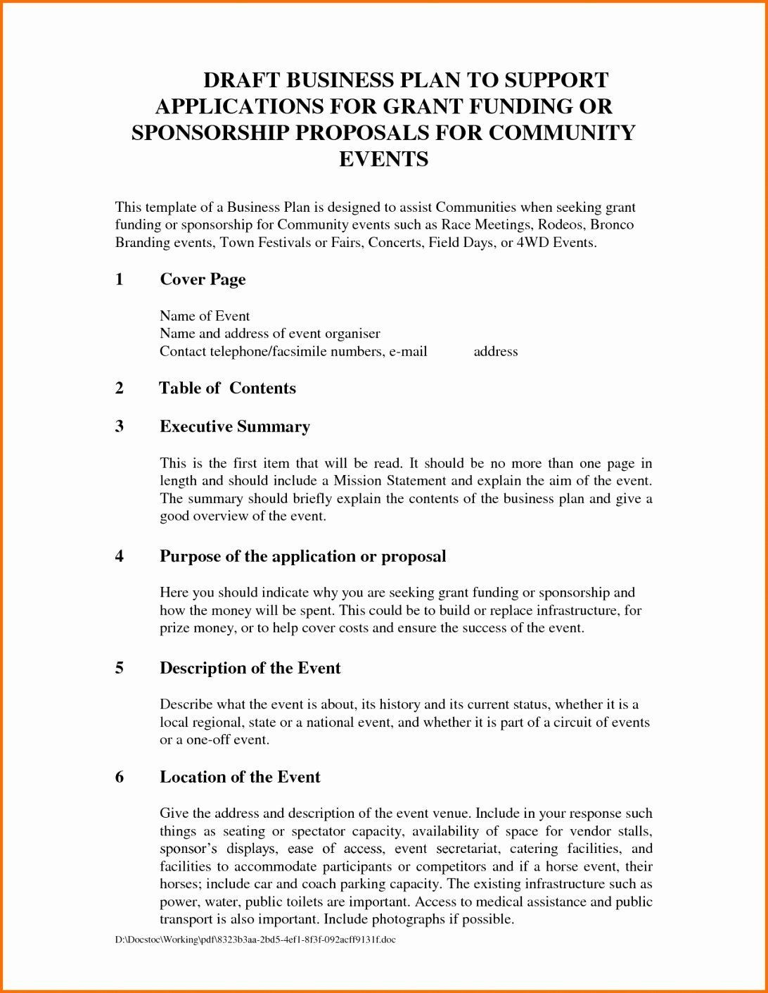 Samples Of Proposal Letters For Sponsorships . Samples
