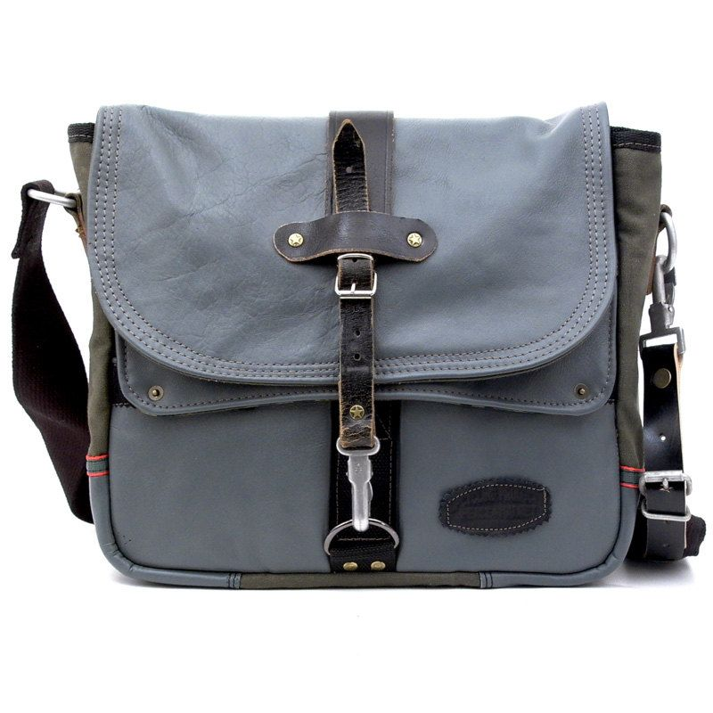 Upcycled Messenger Bag / paul-2010 by peace4you / Made in Germany. $367.00, via Etsy.