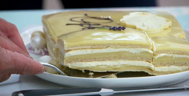 Passion Fruit Opera Cake