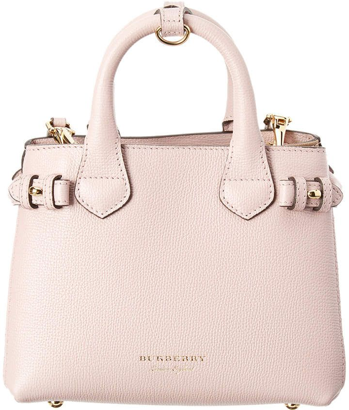 29a86cd3ee Burberry Banner Baby House Check & Leather Tote | Leather bags ...