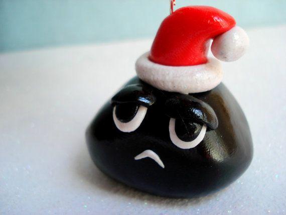 Lump Of Coal For Christmas.Lump Of Coal Christmas Ornament Gag Gift Christmas Coal