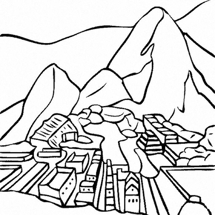 Machu Pichu Machu Picchu Coloring Pages