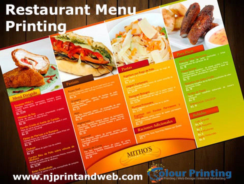 make a restaurant menu