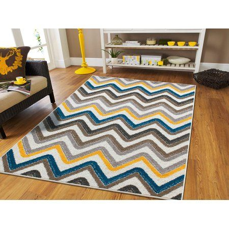 New Fashion Luxury Chevron Rugs For Living Room Zig Zag Rugs 2x4 Contemporary Rug Mat Blue And Grey Yellow Beige Kitchen Floor Rug 2x3 Rugs Walmart Com Yellow Decor Living Room