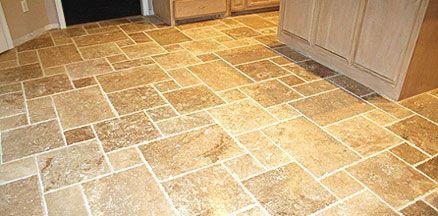 Travertine Kitchen Floor