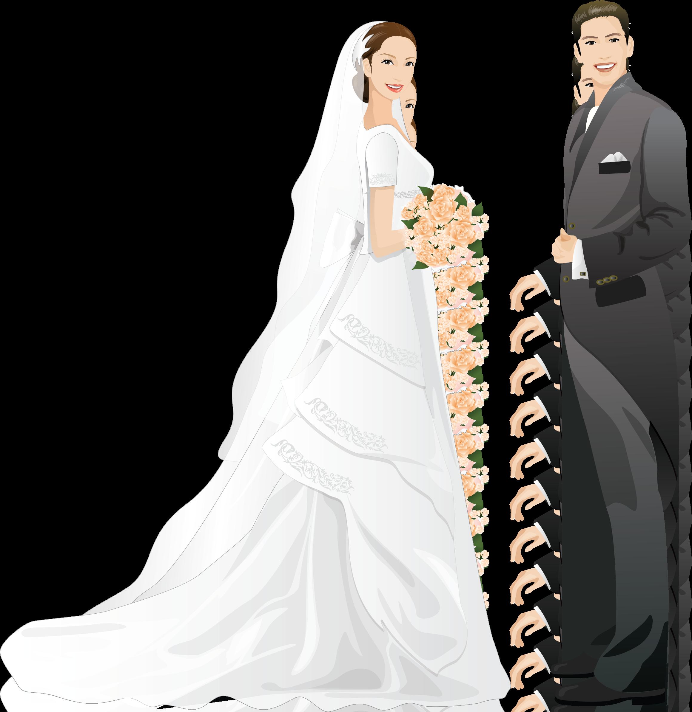 картинка свадьба жених и невеста рисунок подходит для загородных