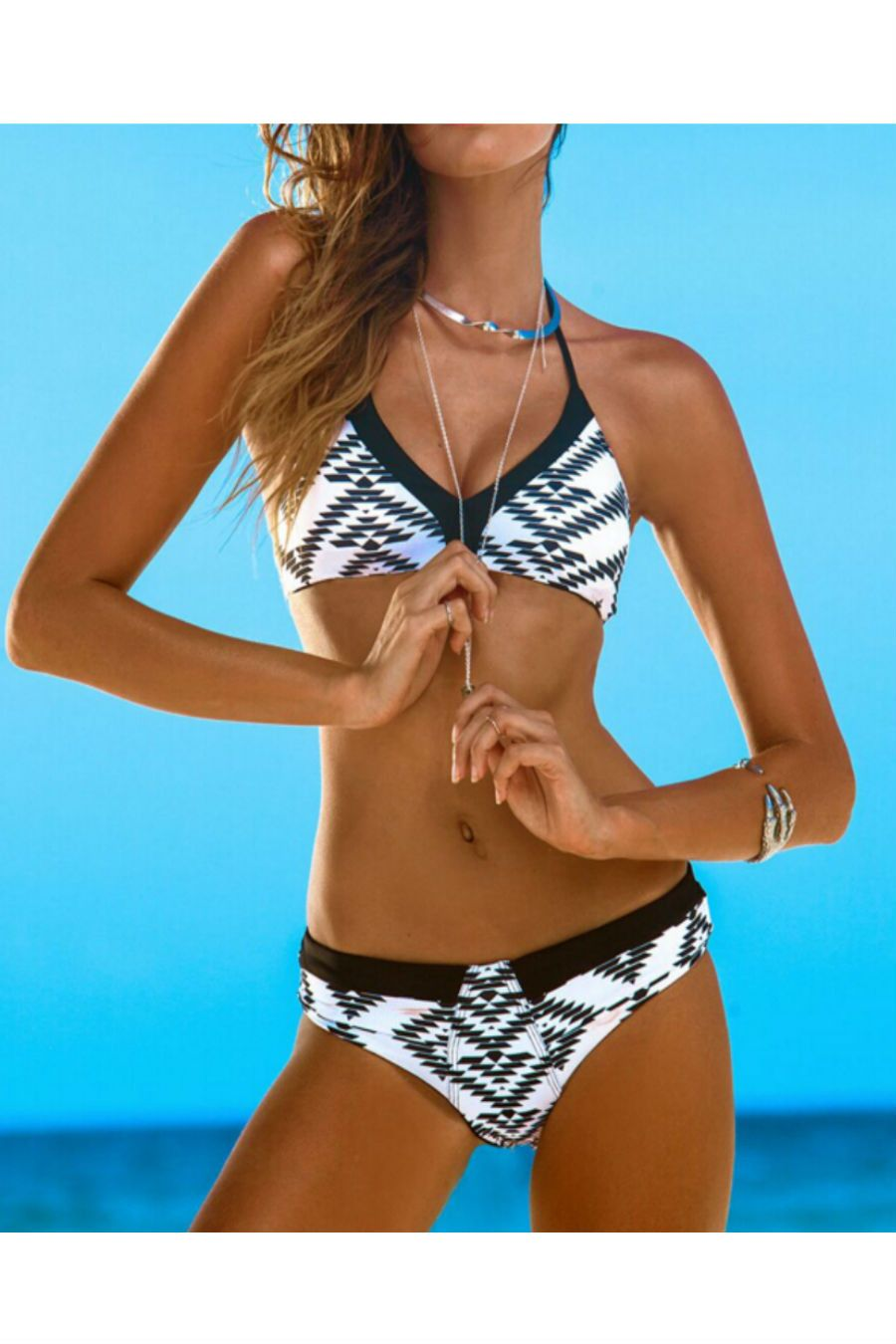 436e446bb721c Geo Printed Triangle Bathing Suit Lose Weight With More Energy  http://serenityspagifts.