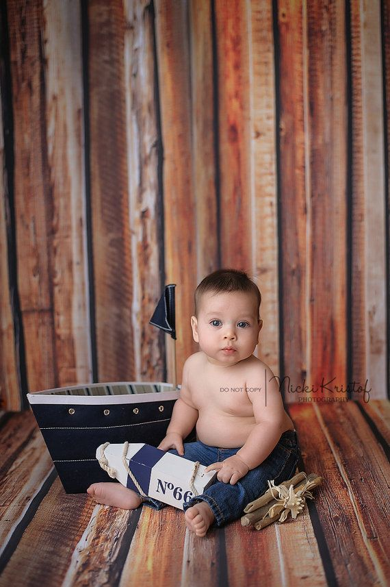 5ft x 7ft - Rustic Wood Floor Backdrop for Photographers - Stained Brown Wood Floor Drop for Pictures - Log Siding Backdrop - Item 187 #backdropsforphotographs