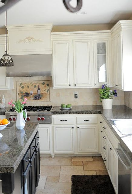 Granite Tile Countertops Looks Like Diy How To For The Cabinet Box