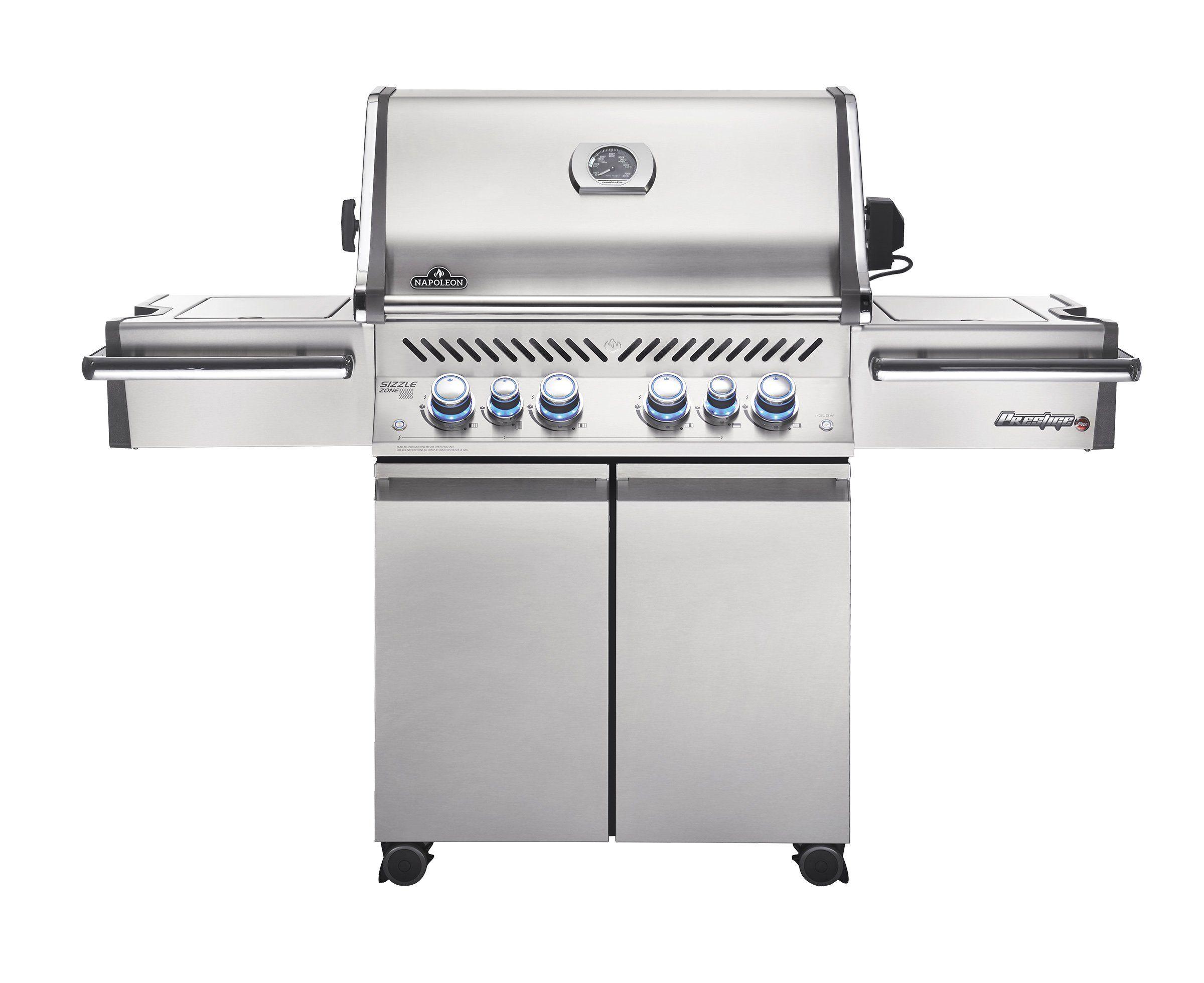 napoleon grills prestige pro 500 propane gas grill stainless