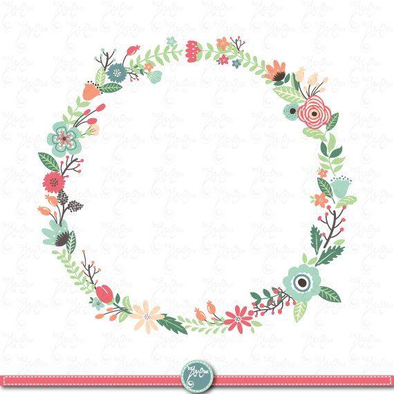 clipart flower wreath - photo #12