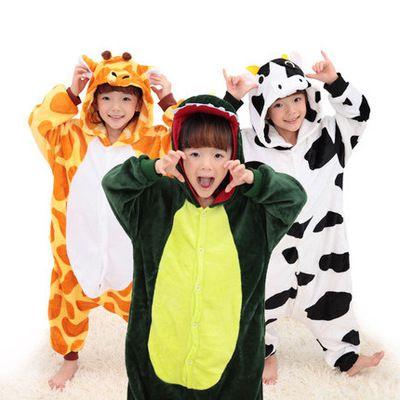 4425ec20b Girls Pajamas warm Autumn Winter Children s pajamas Flannel Animal ...