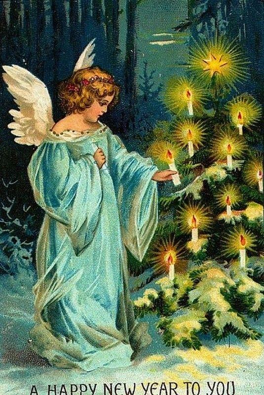 Anciennes Cartes De Nouvel An Illustration Noel Carte De Nouvel