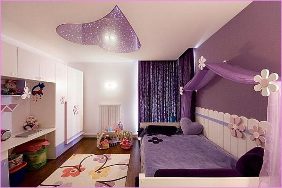 Wonderful Little Girl Purple Bedroom Ideas Part - 2: Cuarto De Niña | Cuartos De Niños Y Bebés (Kids And Babys Rooms) |  Pinterest | Ceilings, Childs Bedroom And Dorm