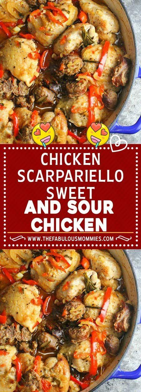 Chicken Scarpariello (Sweet and Sour Chicken)