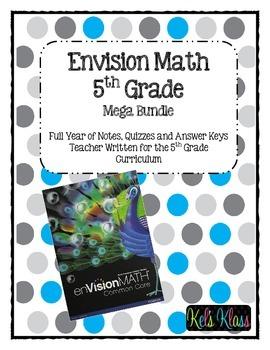 Grade 5 Envision Math Bundle Envision Math Math Bundle Math