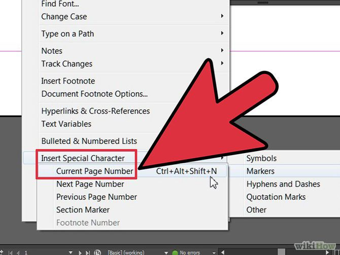 How To Add Page Numbers In Indesign Indesign Quotation Marks Find Fonts