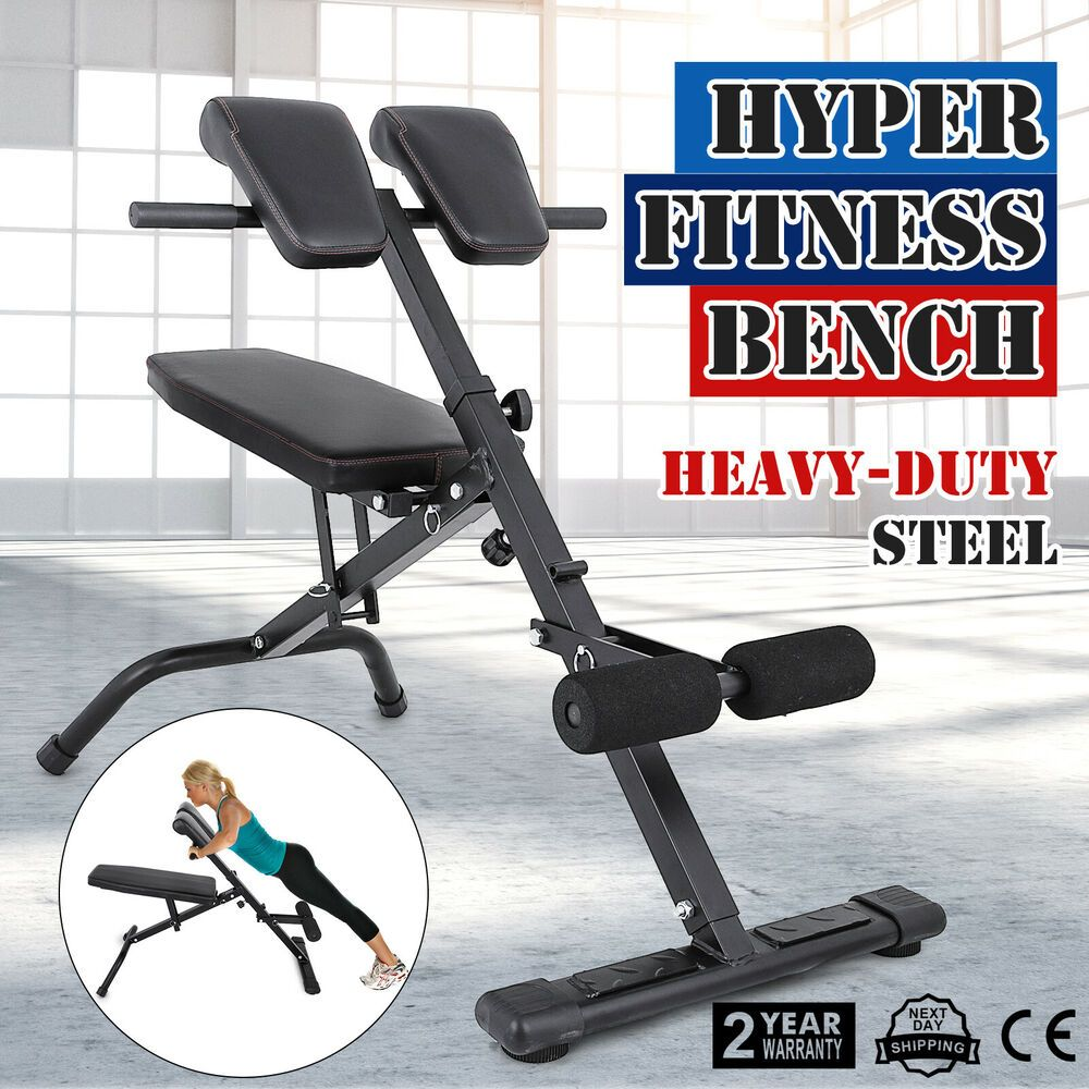 Ad Ebay Adjustable Hyper Extension Back Bench Roman Chair Strength Gym Use Training Fitness Training Barbell Workout At Home Gym