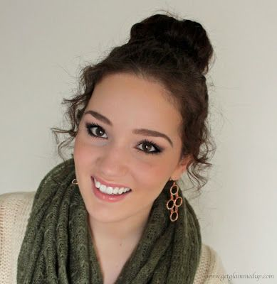 VIDEO: Sock Bun Tutorial for Curly Hair - Holiday Hair Tutorial ballerina bun http://www.youtube.com/watch?v=jHCtgdbfRuM