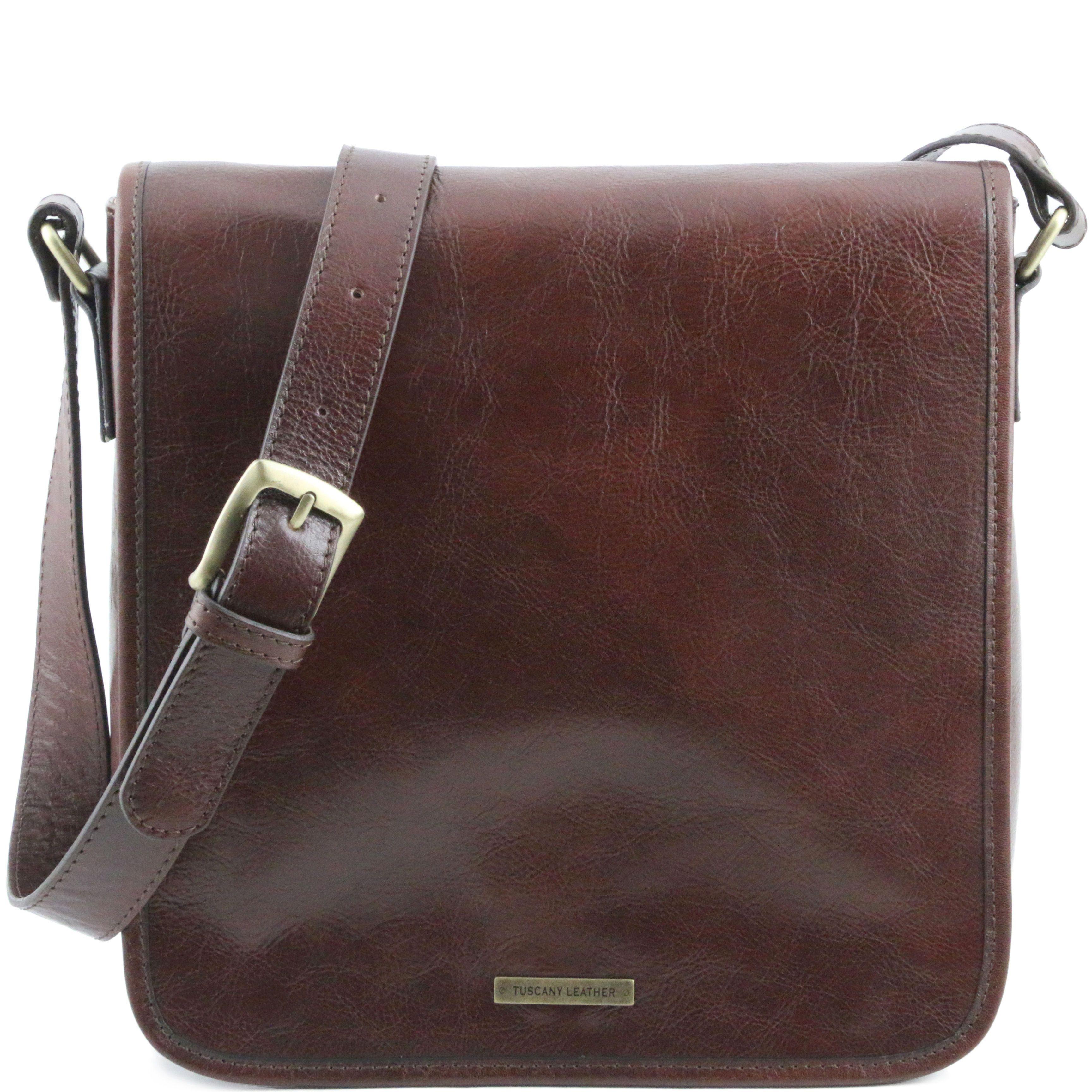 f75b40868ff7 TL Messenger One compartment leather shoulder bag