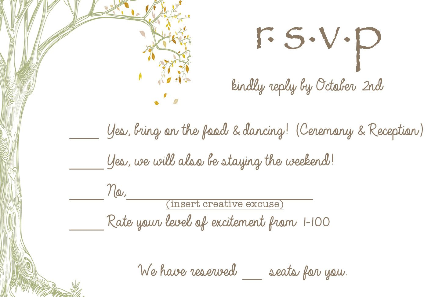 8 S Who Don T Take The Whole Wedding Thing Too Seriously Diy Rsvp Cardsfunny