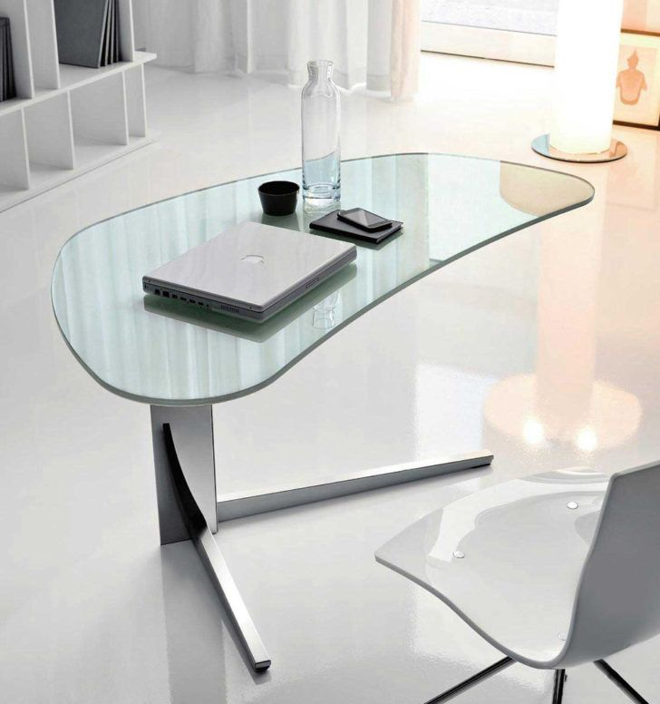 Furniture:Modern Office Desk Designs With Professional Style Modern Glass  Office Desk Design With Nice White Chair