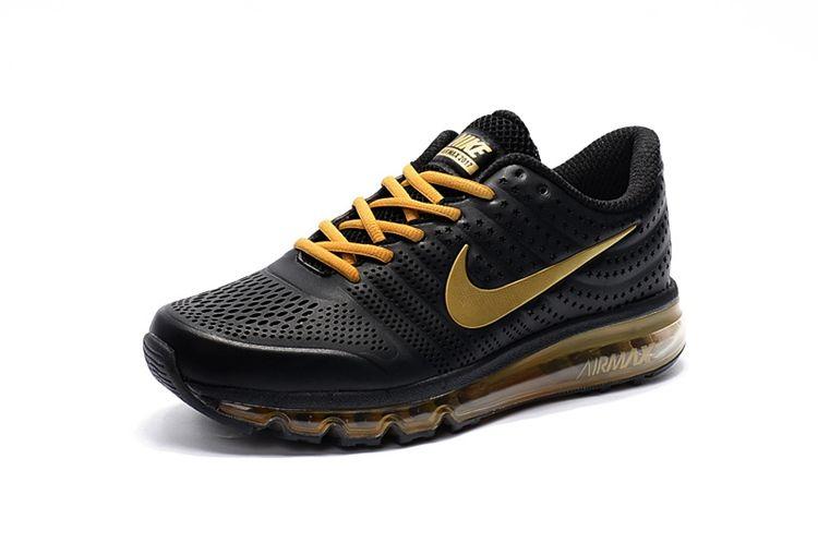 7d41c033fd6 ... inexpensive nike air max 2017 cool leather men shoes black gold dec6c  cfaa1