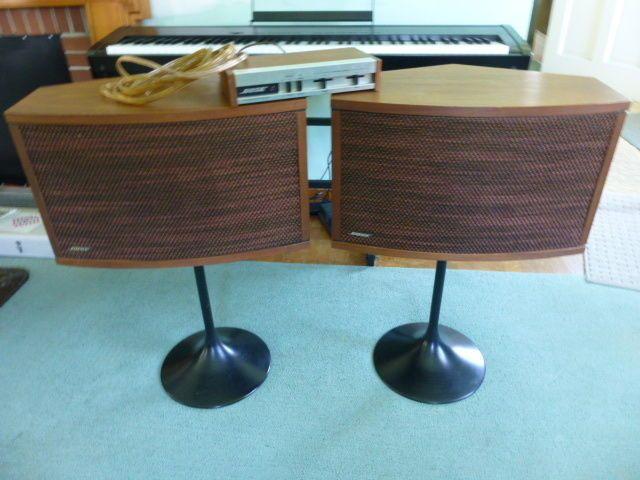 bose 901 vintage. vintage 1970s bose 901 series iii pedestal speakers w/ equalizer walnut o