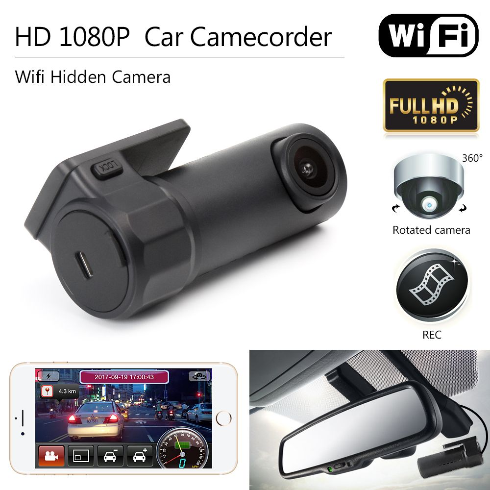 Hidden Car Camera 1080P WIFI DVR Dash-Cam Video Recorder Camcorder Night Vision
