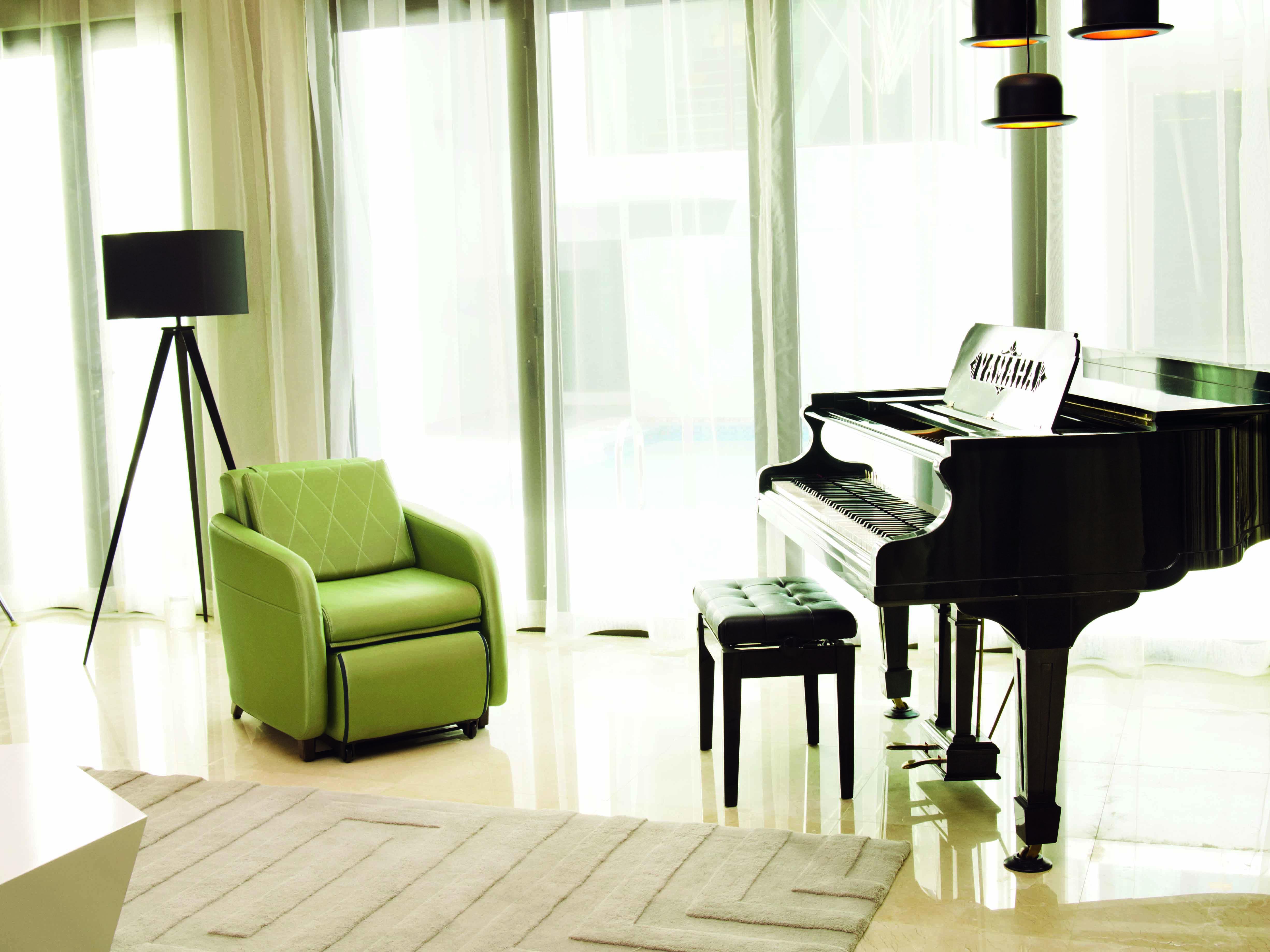 OSIM uAngel massage Sofa Chair green Sofa transform to