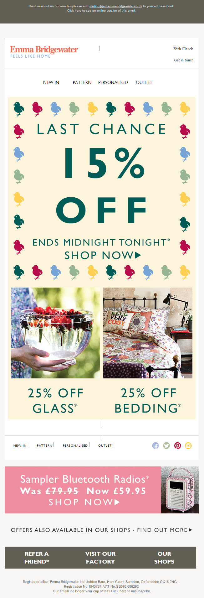 Last chance 15 off email from emma bridgewater for easter mugs personalised gifts teapots at emma bridgewater negle Choice Image