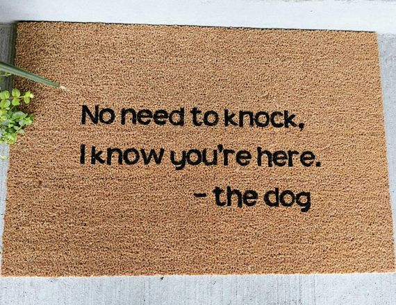 Dog Doormat Custom Doormat Welcome Mat Funny Doormat Dogs Custom