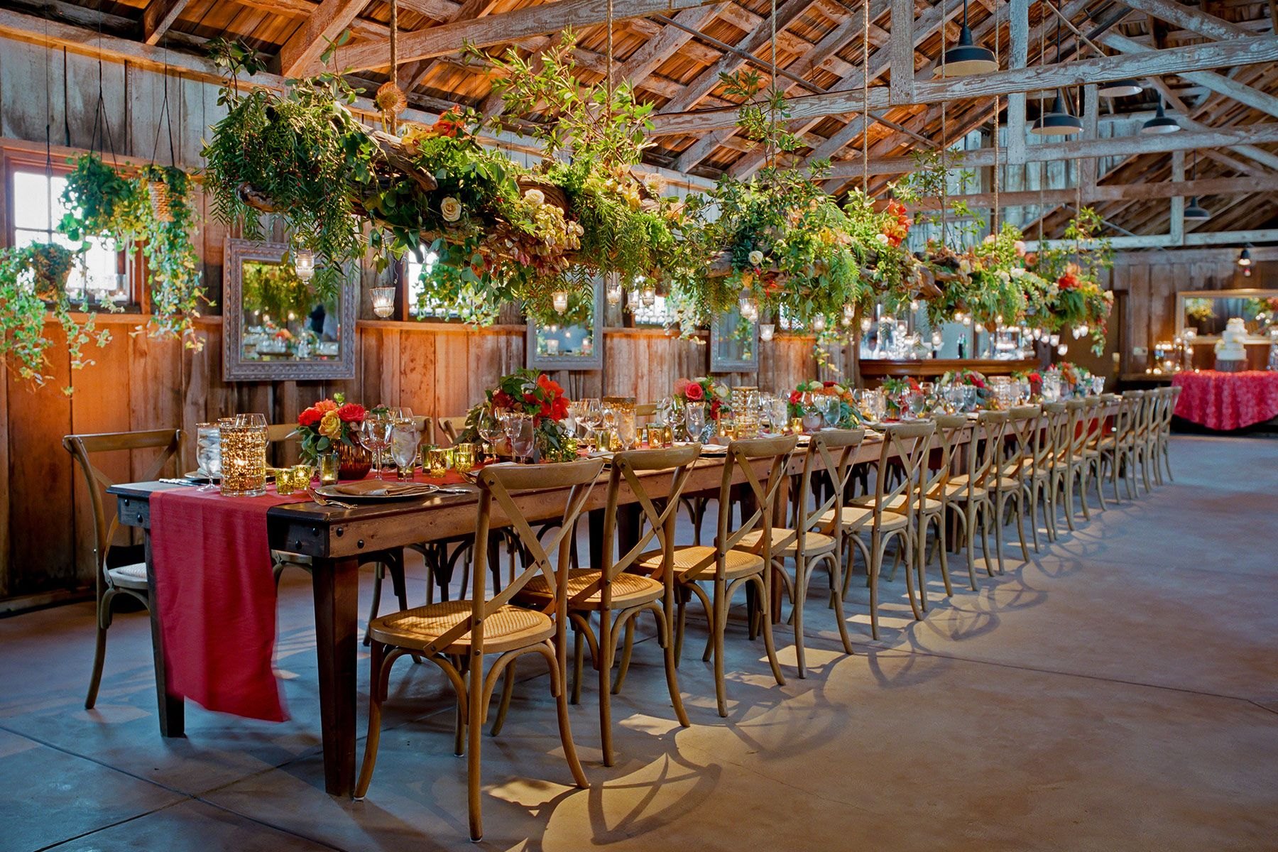 Natura And Rustic Kings Tables Topped With Orange Peach And Gold - King's table restaurant