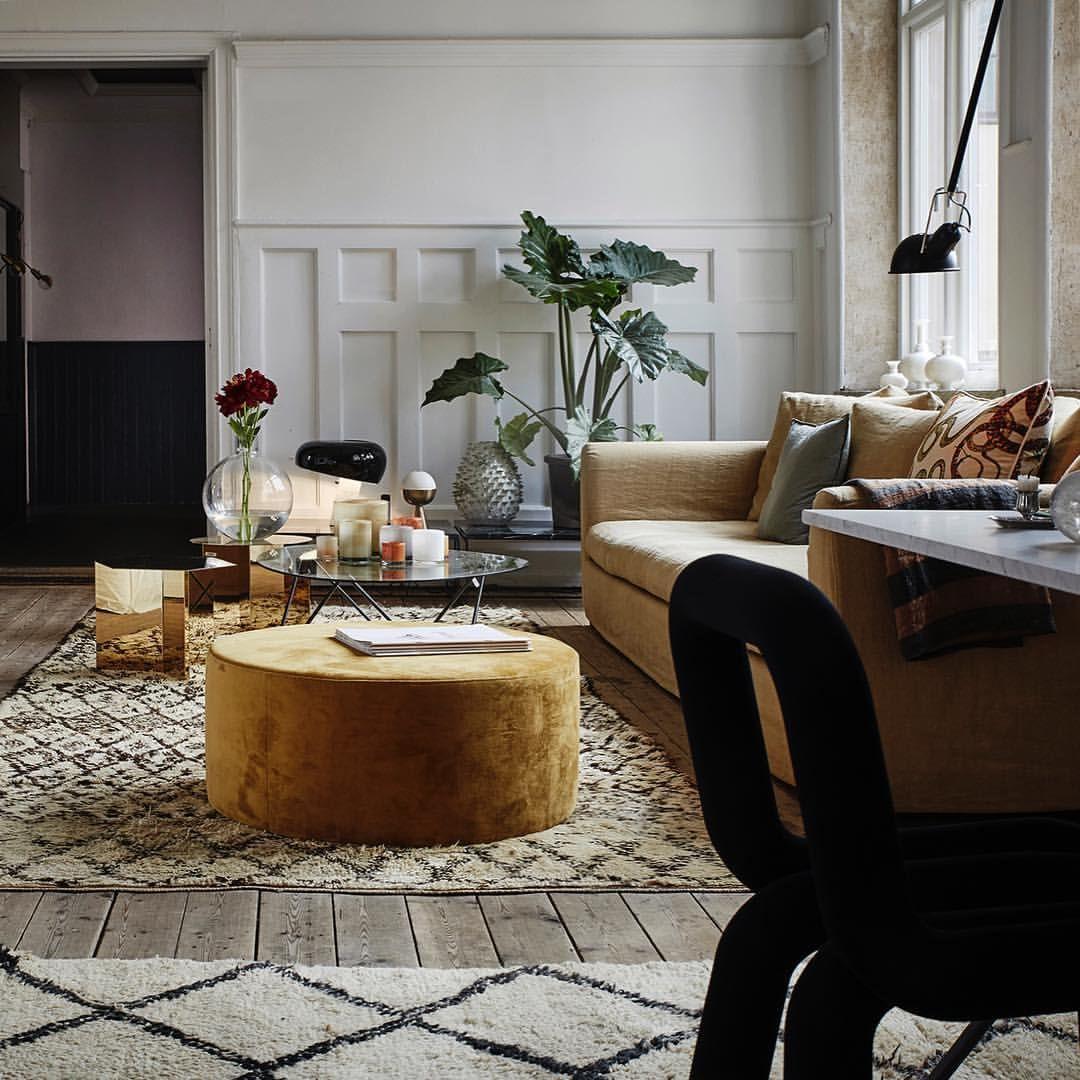 HAY Slit Hexagon Table In Brass. Living Room PlantsLiving Room IdeasLiving  ...