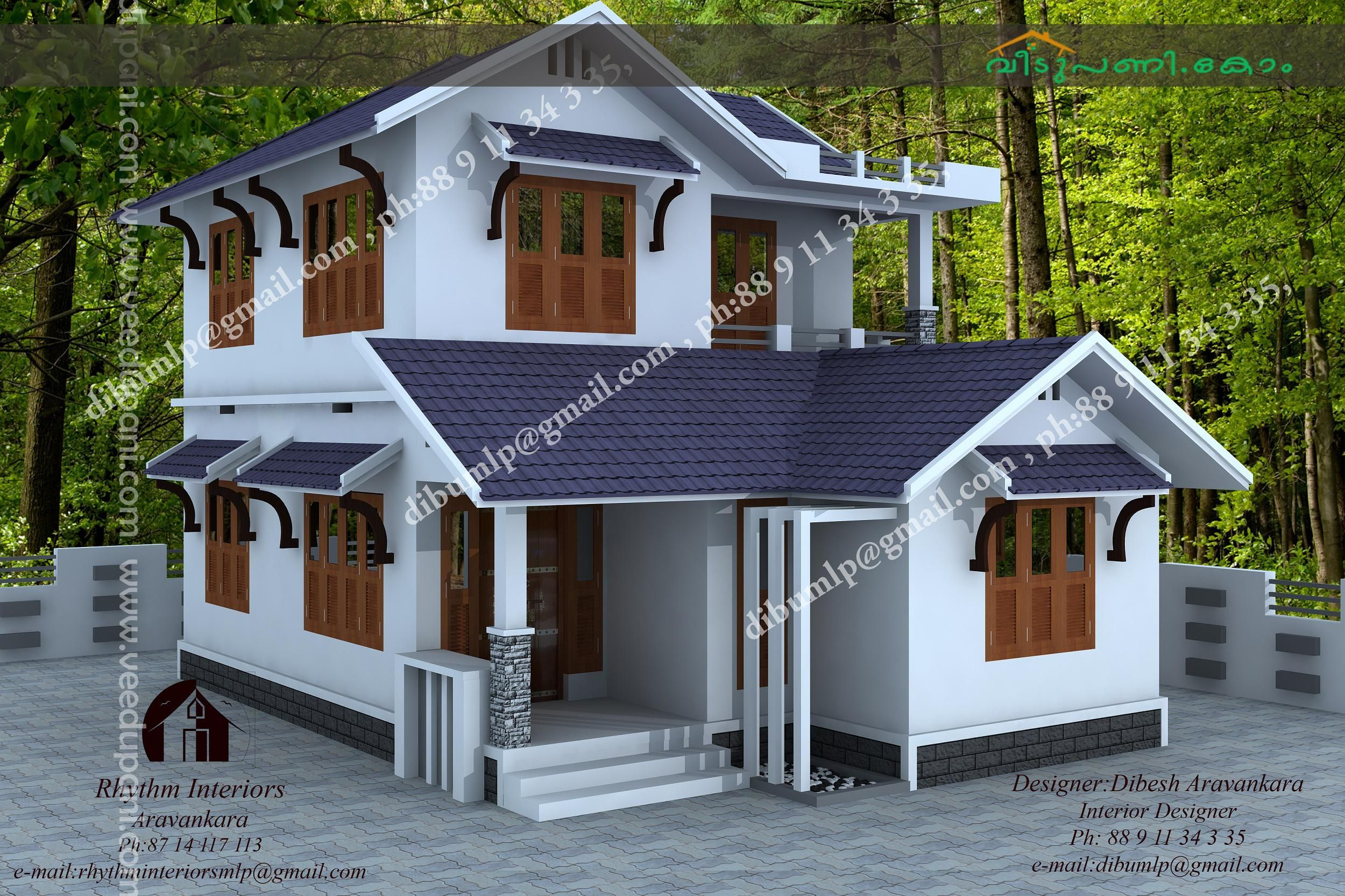 Kerala low budget house plans with photos free modern design for Low cost house plans with photos