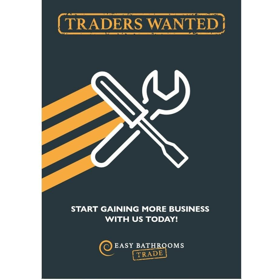 T R A D E R S  W A N T E D   Local tradesmen wanted, please get in touch with u...  🛠 T R A D E R S  W A N T E D 🛠 Local tradesmen wanted, please get in touch with us and ask about how we can help your business grow ….. #tradesman #plumber #fitter #bathroomfitter #leeds #tradeleeds #bathroomdesign #interiordesign #renovation #propertydevelopment #developer #homeimprovement #job #tools #tradeaccount #easybathrooms #harrogate #wetherby #york #yorkshire #westyorkshire #northyorkshire #bathroomins
