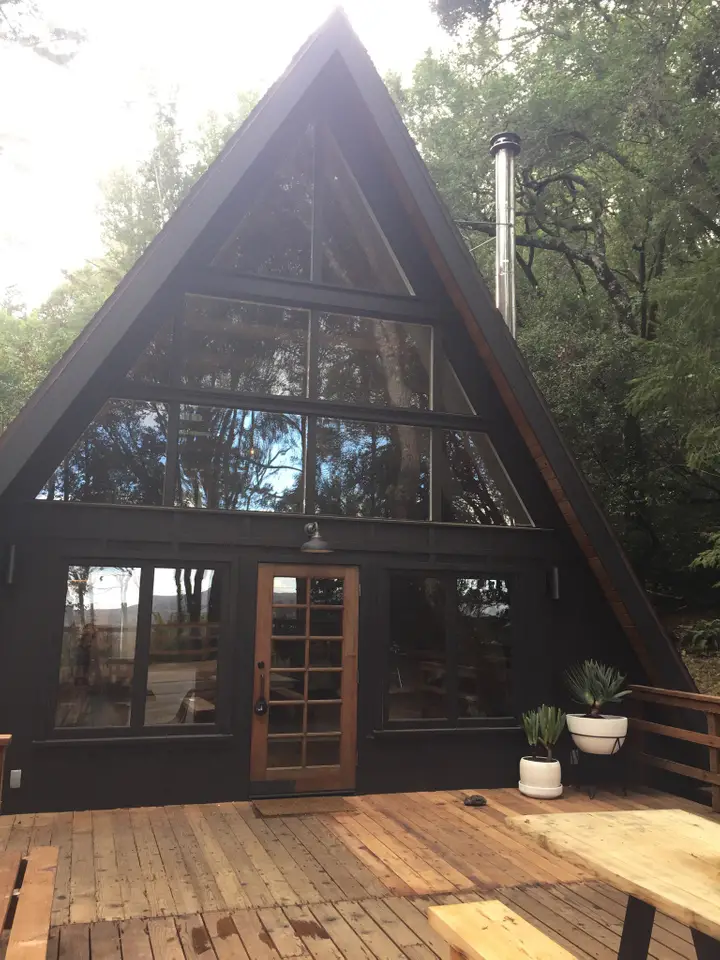 Inverness A Frame Cabins For Rent In Point Reyes Station A Frame House Plans A Frame Cabin A Frame House
