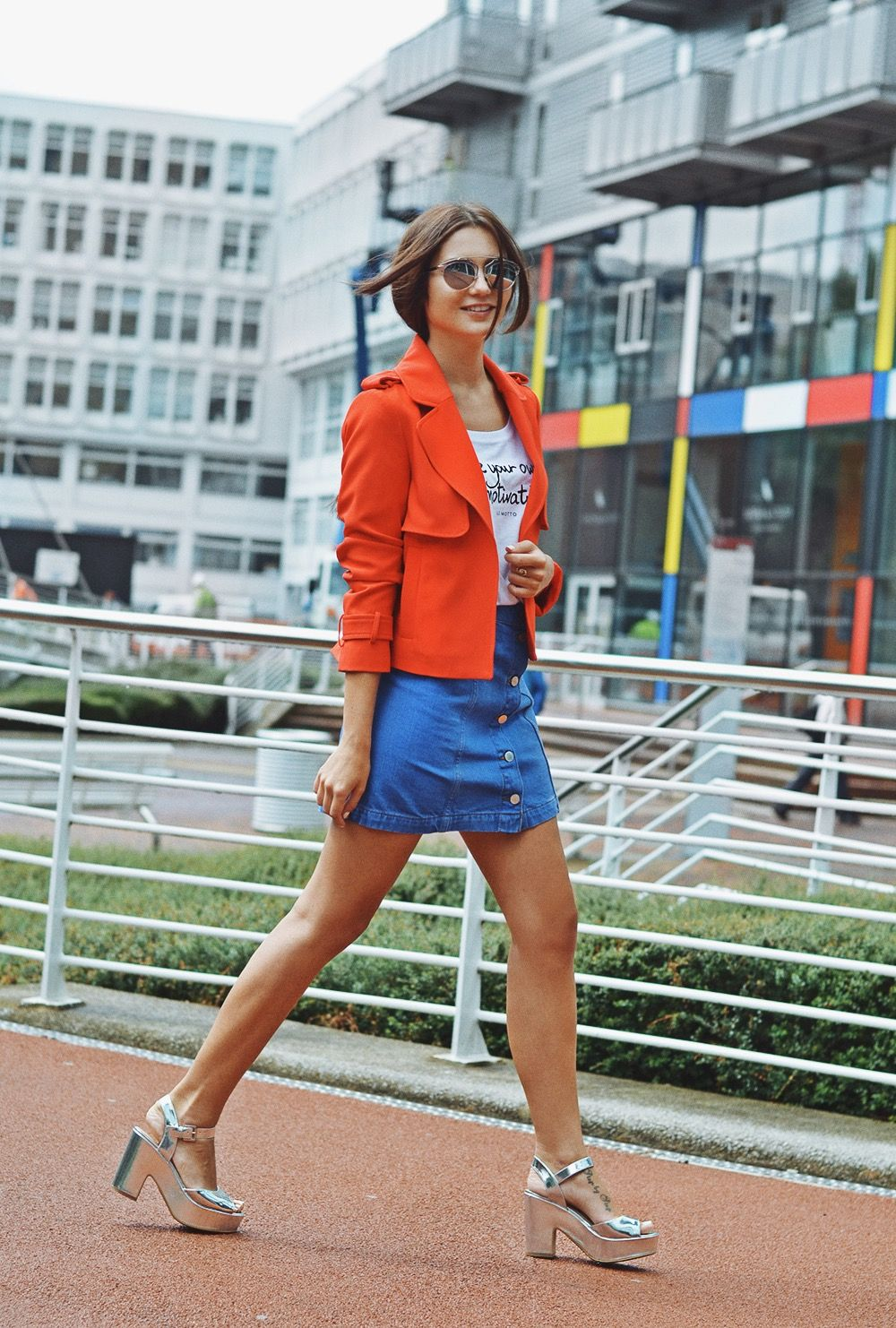 Super cool style & a fun way to change up outfits with orange and silver! <3 SHOP THE LOOK <3 #pleenq