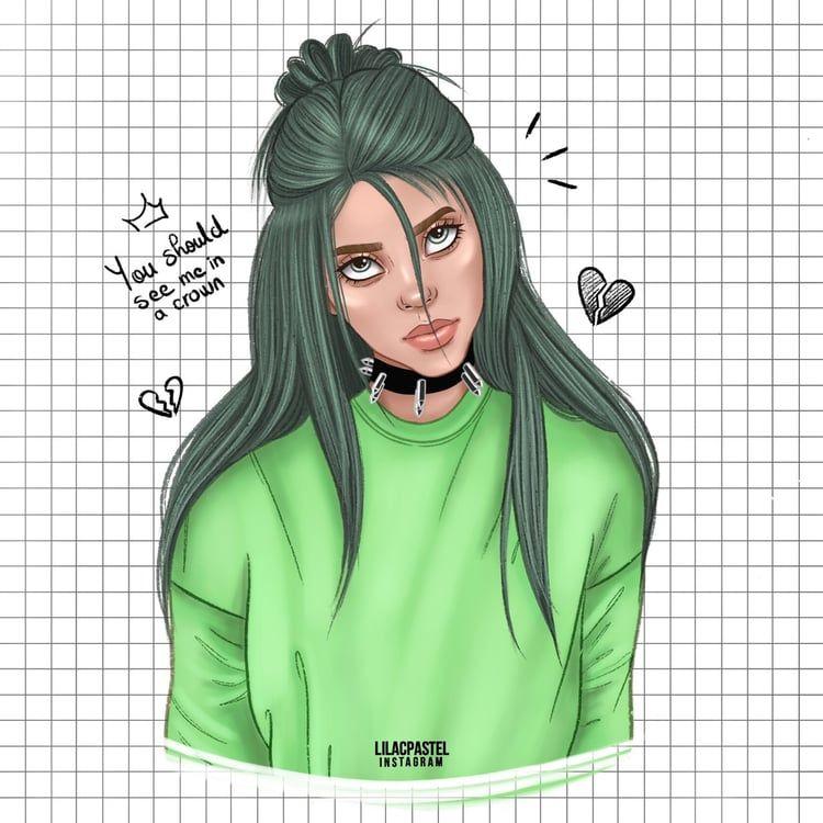 Drawing Of Billie Billie Eilish Billie Cartoon