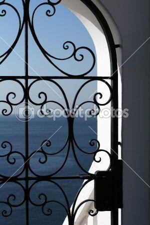 Spain Spanish View Of Mediterranean Sea By Mandygodbehear Stock Photo Wrought Iron Doors Wrought Iron Decor Wrought Iron Railing