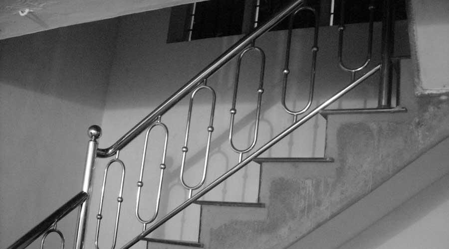 Steel Staircase Design Kerala Interiorunocom Creative Metal