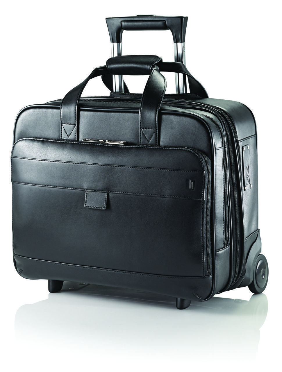 Hartmann Heritage Mobile Office Leather Rolling 15 6 Laptop Case Luggageplanet
