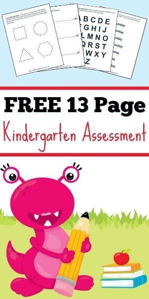 Kindergarten Assessment | Homeschool | Free Printable ...