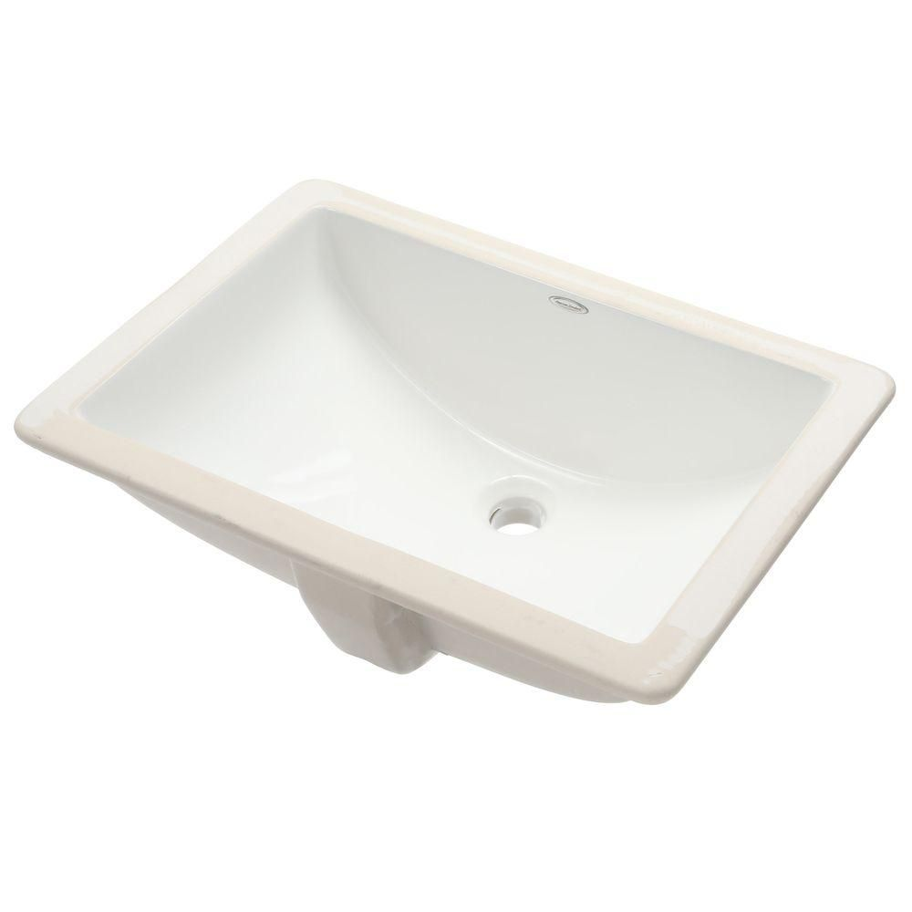 American Standard Studio Rectangular Undermount Bathroom Sink In ...
