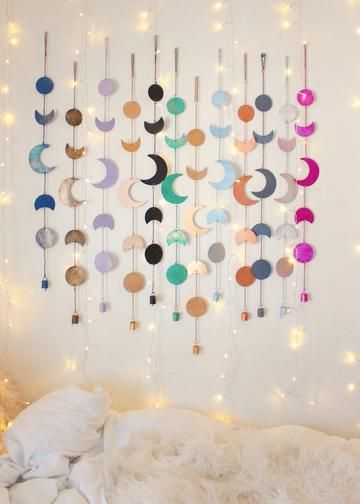 Bring the Moon's Magic into your Home. The Moon Phase wall hanging is perfect for your bohemian home decor.